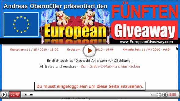 Der FÜNFTE European Giveaway