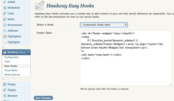 Easy Hook Footer Open