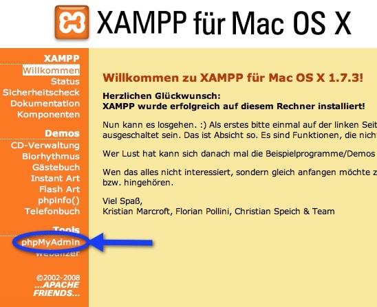Xampp phpMyAdmin