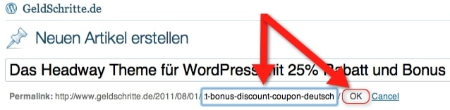 WordPress Permalink ändern
