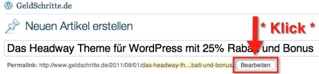 WordPress Permalink bearbeiten