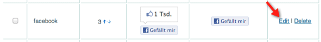 Sharebar Facebook Button editieren