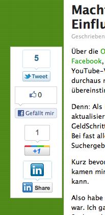 Sharebar auf GeldSchritte.de