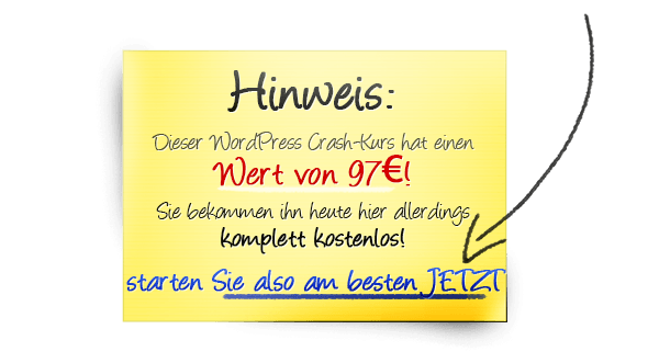 Wert des WordPress Crash-Kurs
