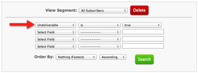 AWeber: Unzustellbare E-Mail-Adressen filtern