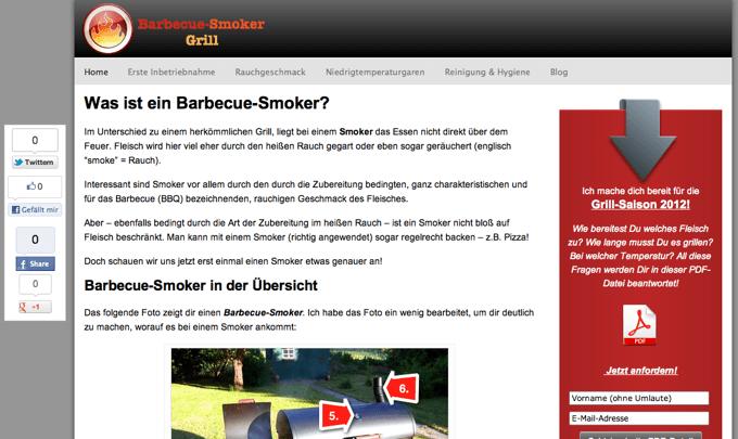 Barbecue-Smoker-Grill.de im März 2012