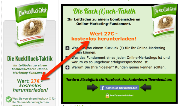 Die Kuck(l)uck-Taktik mit Wertangabe