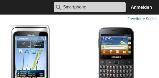 Flickr Screenshot erweiterte Suche