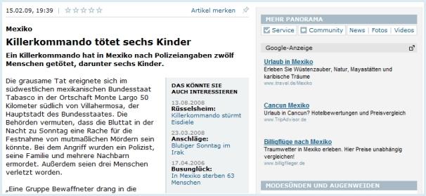 Google AdSense - Unpassende Werbung 1