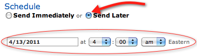 Aweber E-Mails planen