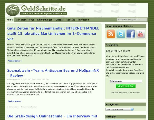 GeldSchritte.de - Alte Version