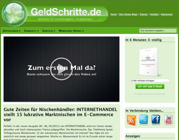 GeldSchritte.de - Neue Version