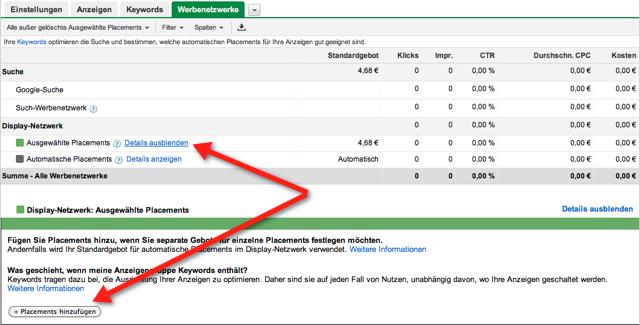 Google Placements für gezielte AdSense Anzeigen