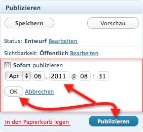 WordPress Veröffentlichungen planen