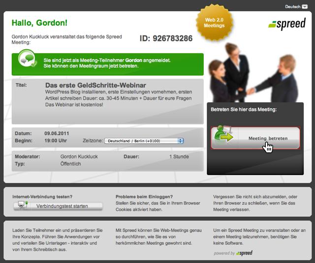 GeldSchritte-Webinar mit Spreed - Schritt 3