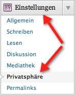WordPress Privatsphäre